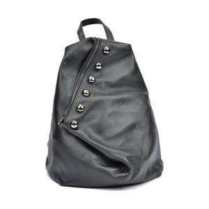Čierny kožený dámsky batoh Luisa Vannini Fruhlo