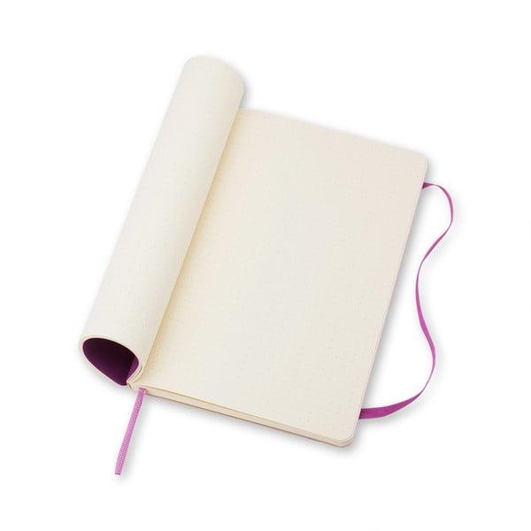 Veľký svetlofialový zápisník Moleskine Soft, bezlinajok