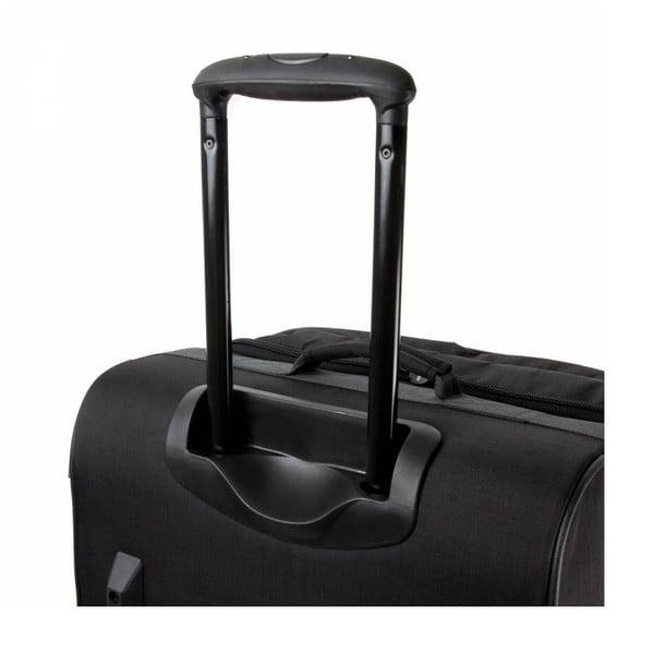 Cestovný kufor Track Jack Trolley L, čierny