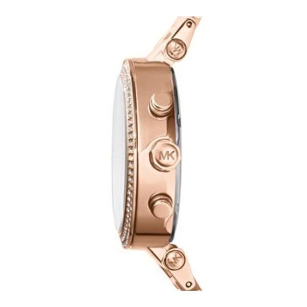 Dámske ružové hodinky s detailmi vo farbe ružového zlata Michael Kors Blush