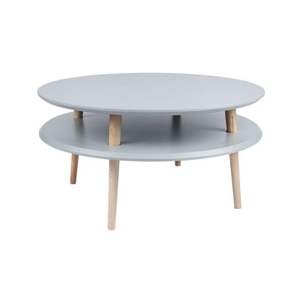 Konferenčný stolík UFO 35x70 cm, tmavosivý