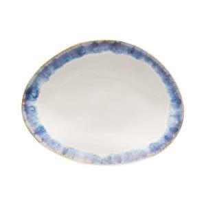 Modrobiely kameninový dezertný tanier Costa Nova Brisa
