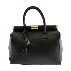 Čierna kožená taška Blair