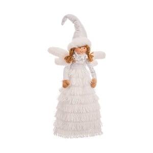 Biela figúrka anjela Unimasa Angel, výška 45 cm