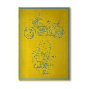 Plagát Motorcycle, 30x42 cm