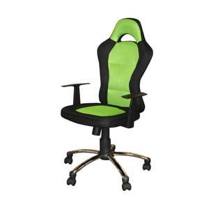 Zeleno-čierne kancelárske kreslo SOB Office