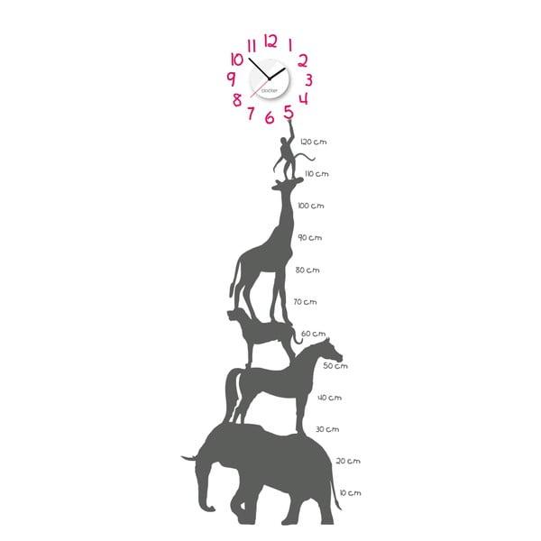 Hodiny so samolepkou Animal Chart