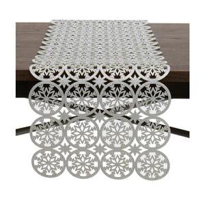 Behúň na stôl  v striebornej farbe InArt XMas Snowflake
