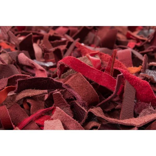 Kožený koberec Rodeo 160x230 cm, červený