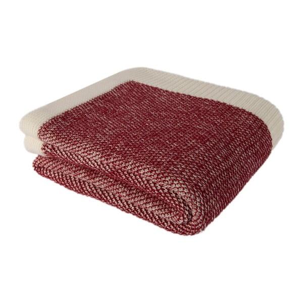 Červeno-béžová bavlnená deka Couture