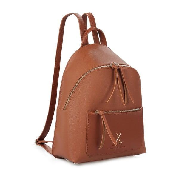 Hnedý batoh z eko kože Beverly Hills Polo Club Fran