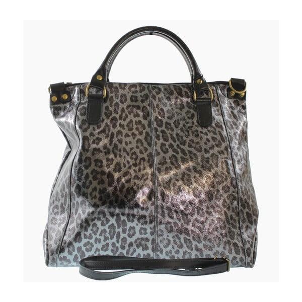 Strieborná kožená taška Goldie