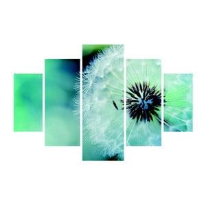 Viacdielny obraz Fluffy Green, 92×56 cm