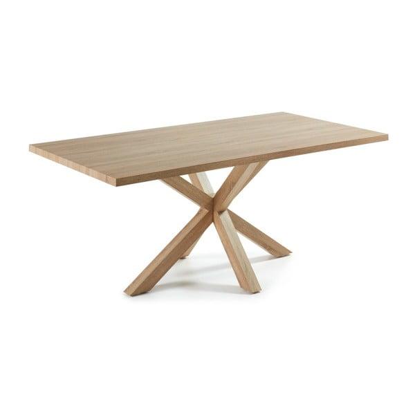 Jedálenský stôl s drevenou podnožou La Forma Arya Natural, dĺžka 200cm