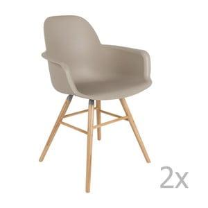Sada 2 sivých stoličiek s opierkami Zuiver Albert Kuip