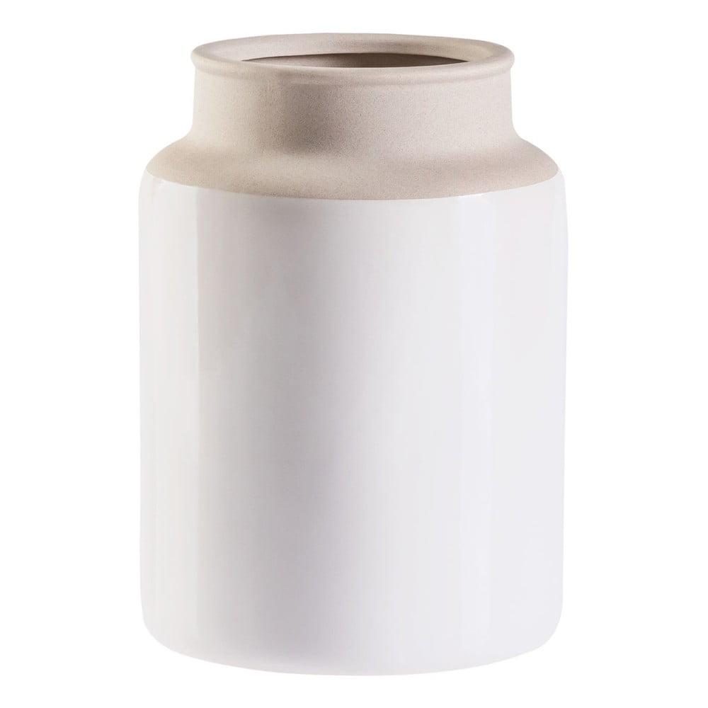 Krémovo-biela váza Vox Todal, výška 23,5 cm