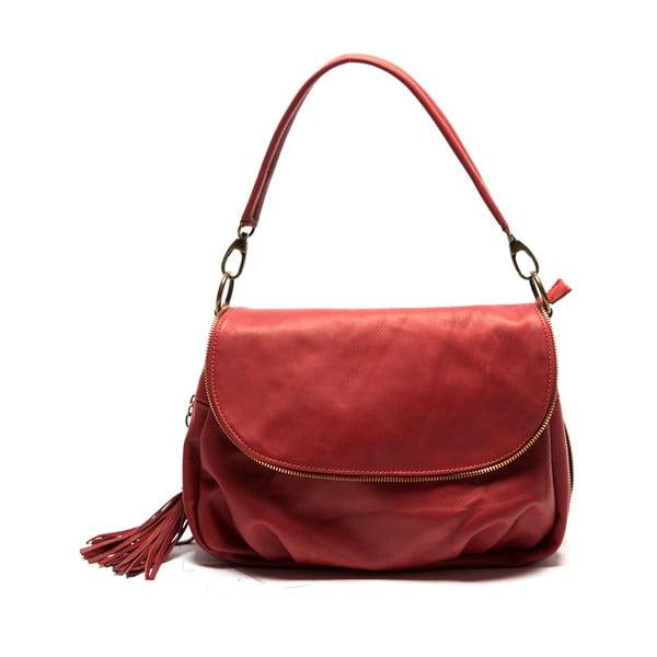 Červená kožená kabelka Sofia Cardoni Cristina