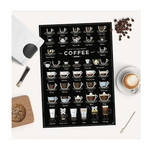 Plagát Follygraph 38 Ways To Make Perfect Coffee, 42 × 59,4 cm