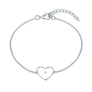 Strieborný náramok s pravým diamantom Tess Diamonds Leva