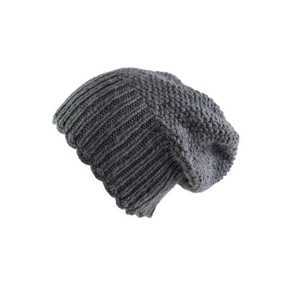 Vlnená čiapka s vysokým nápletom Grey Uni