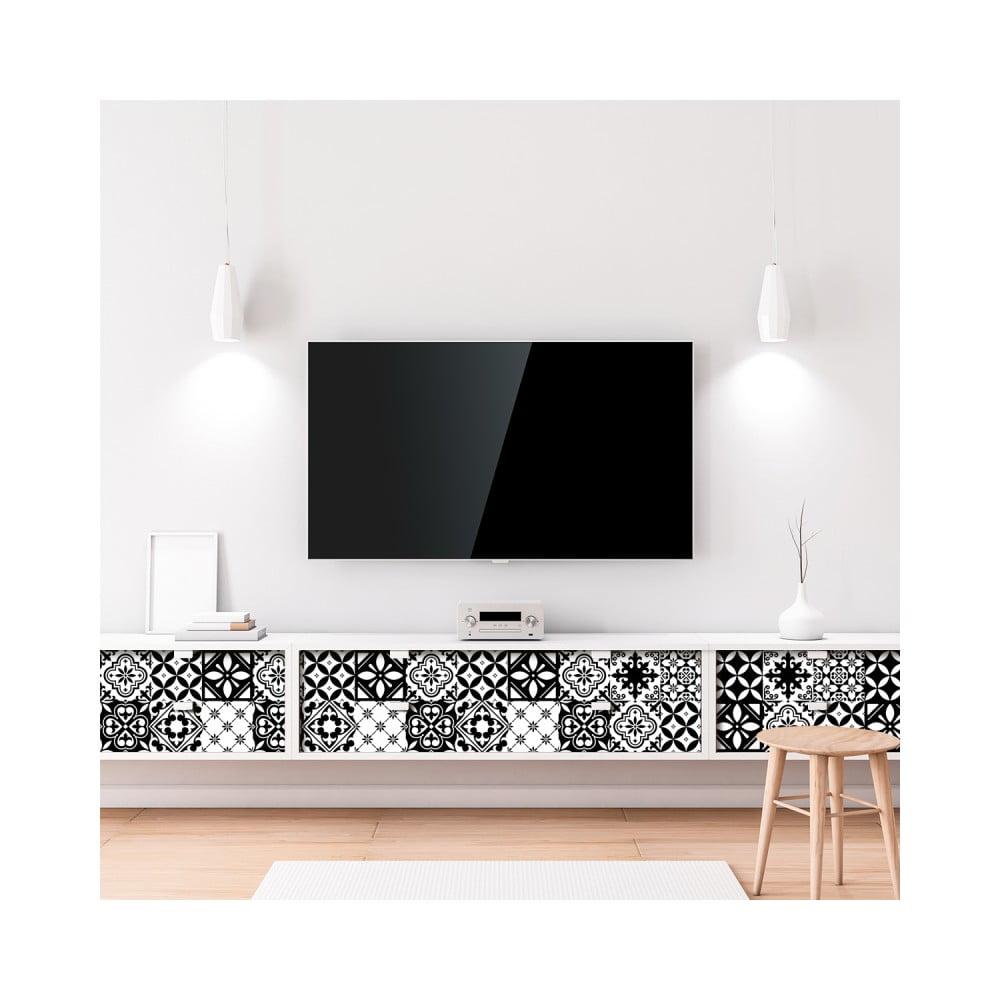 Sada 60 samolepiek na nábytok Ambiance Tiles Stickers For Furniture Maria, 20 × 20 cm