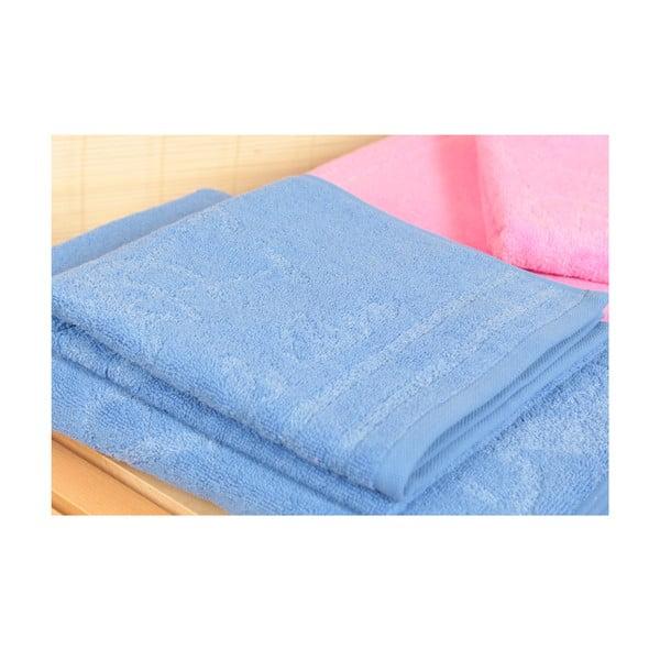 Sada 4 osušiek a kúpeľňovej predložky U.S. Polo Assn. Family Blue