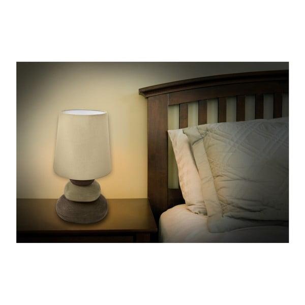 Béžová stolová lampa Naeve Stoff