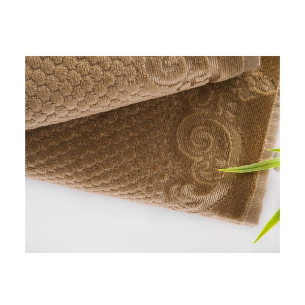 Sada uteráka a osušky Acustic Light Brown, 50x90 cm a 70x140 cm