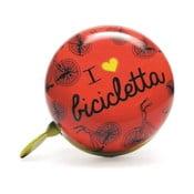 Zvonček na bicykel I ♥ Bicicleta, červený