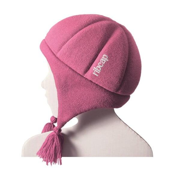 Detská ružová čapica s ochrannými prvkami Ribcap Chessy, veľ. S