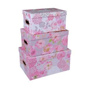 Sada 3 boxov s držadlami Tri-Coastal Design Lovely Garden