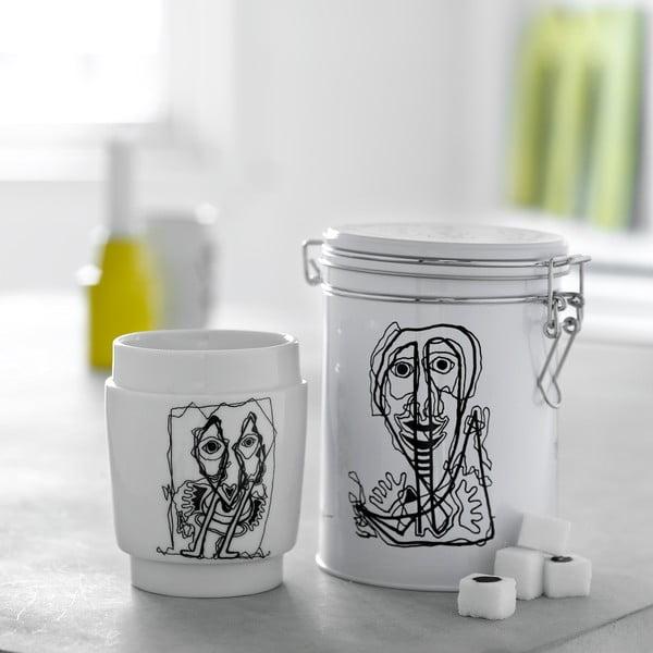 Porcelánový termohrnček Steel Function Art No. 4