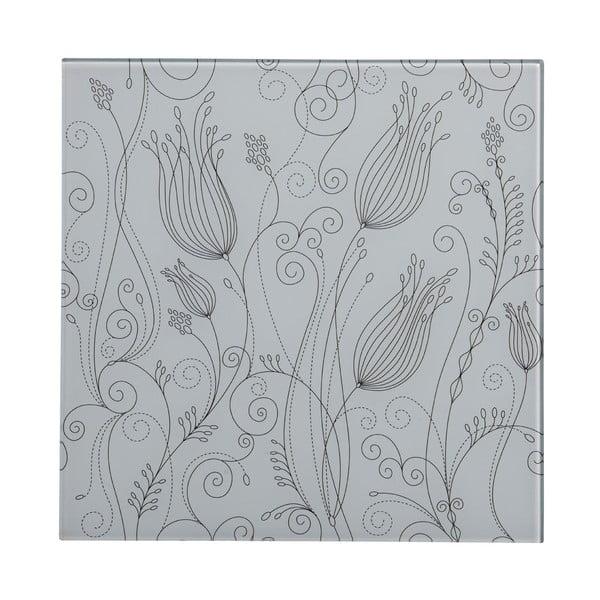 Sklenený obraz White Tulip, 30x30 cm