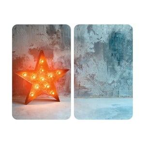 Sada 2 sklenených krytov na sporák Wenko Star, 52×30 cm