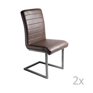 Sada 2 hnedých jedálenských stoličiek RGE Toscana Simple