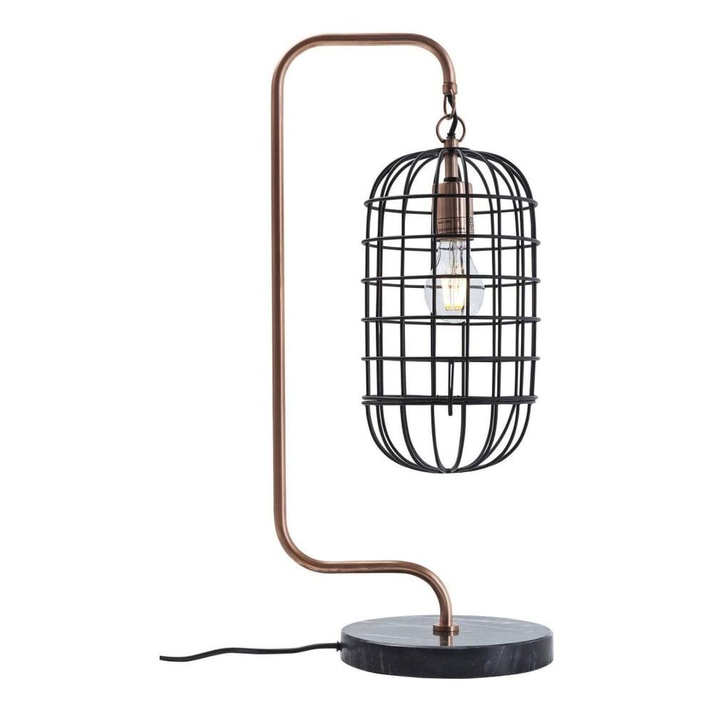 Stolová lampa s mramorovou základňou Kare Design Cage
