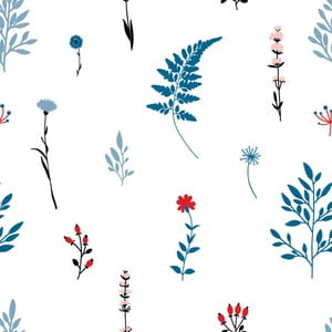 Tapeta na stenu Dekornik Blue Meadow, 50 x 280 cm