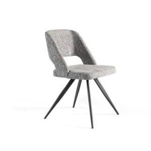 Sivá polstrovaná stolička Ángel Cerdá Rotator