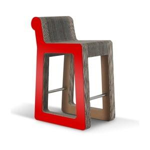 Barová kartónová stolička Knob Stool Red