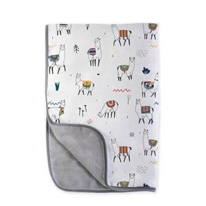 Detská deka Little Nice Things Llamas, 170 x 130 cm