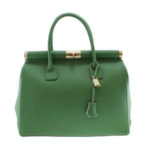 Zelená kožená kabelka Chicca Borse Blair