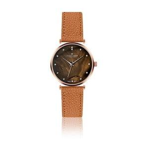 Dámske hodinky s hnedým remienkom z pravej kože Frederic Graff Lychee