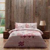 Obliečky s plachtou Pink Patchwork, 160x220 cm