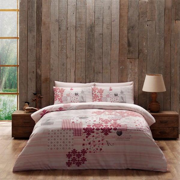 Obliečky s plachtou Pink Patchwork, 200x220 cm