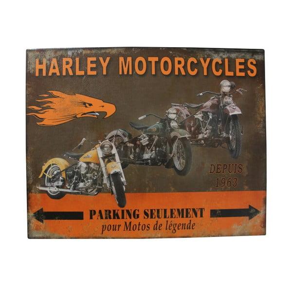 Kovová ceduľa Antic Line Harley Mororcycles
