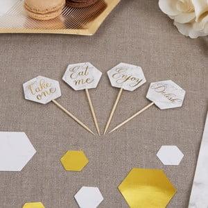 Sada 20 dekoratívnych špáradiel Neviti Scripted Marble Picks