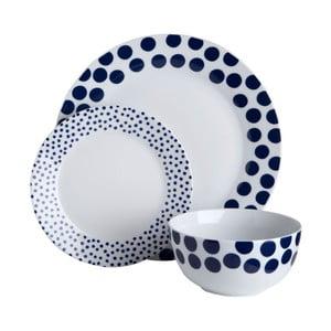 Jedálenská sada Premier Housewares Blue Spots, 12ks