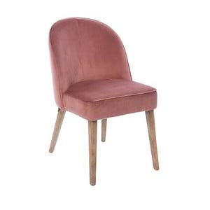 Ružová zamatová stolička Miloo Home Dean