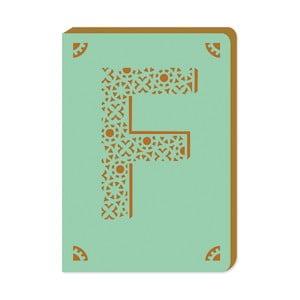 Linajkový zápisník A6 s monogramom Portico Designs F, 160stránok