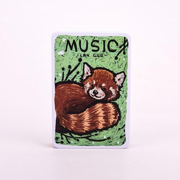 Plechový zápisník Music, červená panda